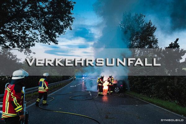 07.06.2021 – H3 VU Feuer/Rauch Person eingeklemmt Pkw