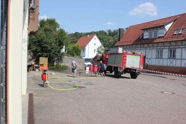 Pustis zu Gast bei der Feuerwehr